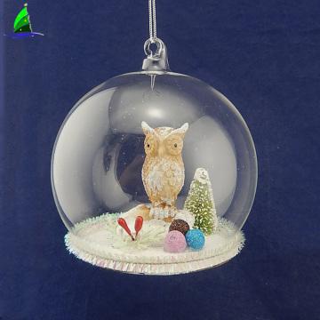 персонализированное украшение из стеклянного шара