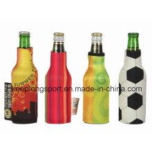 Refrigerador de botella de neopreno de impresión a todo color, titular de la botella de neopreno para botella de cerveza