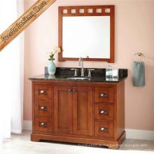 Vaidade de banheiro de madeira de carvalho sólido