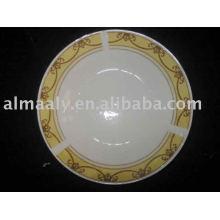 Plaque à soupe en porcelaine Plaque profonde en céramique
