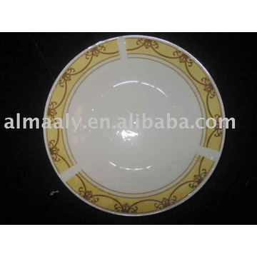 Placa de sopa de porcelana placa de cerâmica profunda