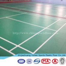 piso de vinil antiderrapante para quadra de badminton