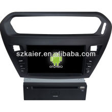 Reproductor de DVD del coche Android System para Peugeot 301 con GPS, Bluetooth, 3G, iPod, juegos, zona dual, control del volante