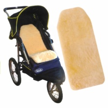 Alle Farbe Schaffell Babyprodukte maßgeschneiderte Kinderwagen Einlage