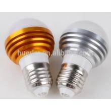 Produit chaud 2 ans de garantie e26 / b22 / e27 3leds 3 watts e27 ampoule led