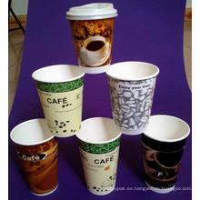 Taza plástica impresa aduana reutilizable del logotipo de la publicidad de alta calidad, taza de café plástica