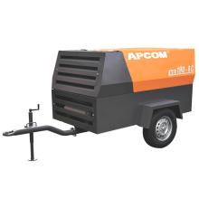 APCOM New Configuration air-compressors 185 CFM 145 psi 8bar 48kw 65HP portable screw air compressor diesel 190cfm HG190-8C