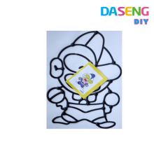 Специальная цена Симпатичные красочные дети ASTM DIY Window Art Stickers