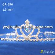 Cheap rhinestone bridal wedding jewelry flower girl tiara