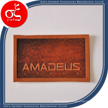 Custom Embossed Genuine/Artificial Leather Patches for Bags/Jeans/Beanies
