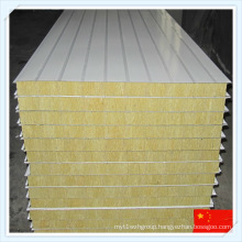 Colorful Fireproof Steel Sheet Rock Wool Sandwich Panel