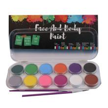 Maquillage 12 couleurs à base d'eau