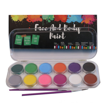 Trang điểm 12 Colors Waterbased Face Body Paint