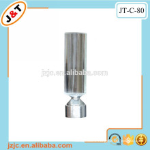 fancy flat plating curtain rod with glass end caps