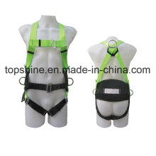 China Industrial Polyester Work Full-Body Adjustable Safety Harness Belt