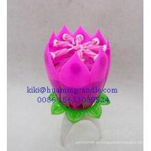 Uso de la vela de la flor de la música / de la fiesta de cumpleaños