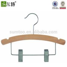 Custom Wood Children Hanger with Clips