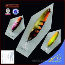 SNL030 - 3 Chine leurre pêche appât cuillère pêche leurre