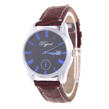 Water Resistant Men Leather Quartz Watch