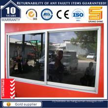 Ventana corredera de aluminio con ventanas de vidrio / aluminio reflejado (SL-7790)