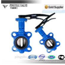 Ductile iron dn150 butterfly valve with stainless steel disc