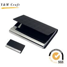 Support spécial de carte de visite de cuir d'unité centrale de haute qualité avec le logo adapté aux besoins du client