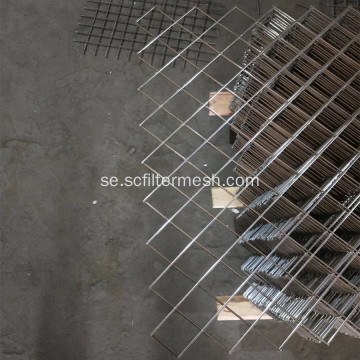 Square Hole 304 SS Svetsad Wire Mesh Sheet
