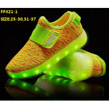 OEM Children USB Charging LED Sport Shoes (FF421-1)
