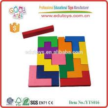 Juguete educativo de los niños Juego de madera de Tetris