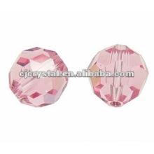 Glass Faceted Round Beads,glass beads,pink round beads