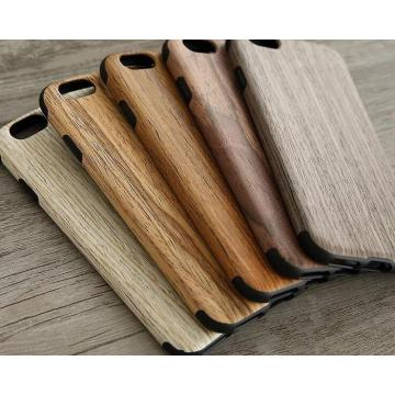 Nap cloth wood grain mobile phone cover leather