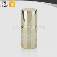 botella de lujo brillante vacía del esmalte del gel del clavo del oro