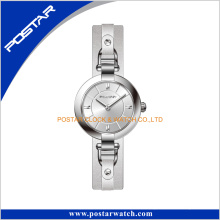 Simple Version Excellent Stainless Steel Luxury Watch with Genuine Leather
