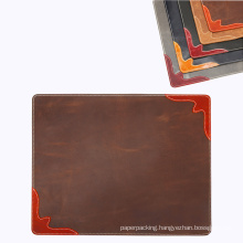 Leather Desk Pad with Fine Decorated Stitching Corner