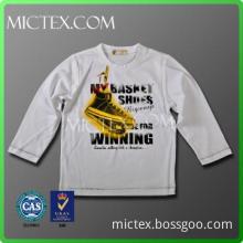 long sleeve 100 cotton printing cotton kid clothes boys t-shirt tee