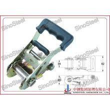 "1-1/2""-38mm Wide Rubber Handle Ratchet Strap Buckle"