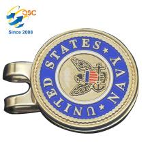Personifiziertes Logo-Metall 2018 fertigte Golf-Markierungsfahnen-Hut-Klipp besonders an