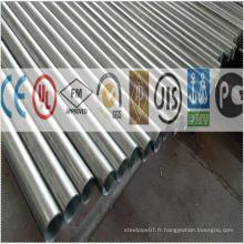 Tube en acier plaqué pré-galvanisé vernis de 1 po pour porte