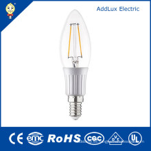3W E27 220V SMD Cool White LED Filament Candle Lamp