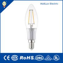 3W Лампа E27 220В SMD холодный белый светодиодная накаливания Свеча Лампа