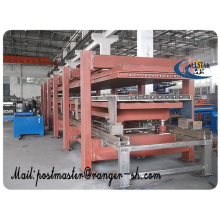 linha de produção de painel de sanduíche de máquina/PU 12 metros 2 + 2 sanduíche de poliuretano de painel