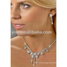 Conjunto de joyería de diamantes de imitación