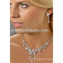 floral rhinestone jewelry set
