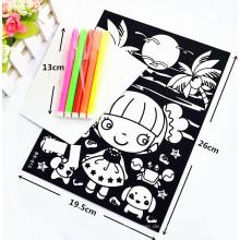 Spielzeug kundengebundener färbender Samtflockige Farbtonplakate
