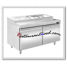 R309 1.2m 2 Türen Fancooling Pizza Prep Station