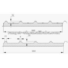 Cadena de producción del Panel de emparedado de EPS para panel de yeso o panel de techo produciendo