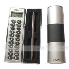 Calculadora em forma de coluna com uma caneta (LC851A)