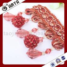 Bordure en perles et perles en grappe pour déco et décoration de lampes