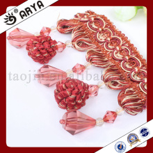 beaded fringe and flower cluster tassel for curtain deco and lamp decoration