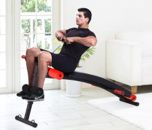 PVC leather foam cushion and soft foam rollers sit up bench,home fitness equipment for sale